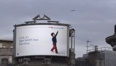 Digital BillBoard from BA Knows When a Plane is Flying Above | WeRSM | We Are Social Media