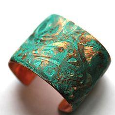 copper longliner cuff bracelet