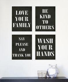 Love this Manners Print Set by Fresh Words Market on #zulily! #zulilyfinds