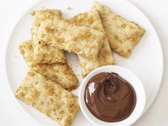Hazelnut Bars recipe from Food Network Kitchen via Food Network Superbowl Desserts, Party Desserts, Holiday Desserts, Sweets Recipes, Brownie Recipes, Snack Recipes, Party Recipes, Soft Sugar Cookies, Yummy Cookies