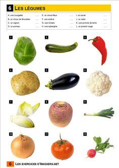 Français Langue Étrangère - A1: légumes