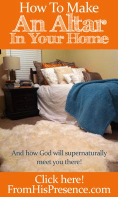 Have you made an #altar in your home, where you can spend time alone with #God? If not, here's how. It's simple and will be one of the best things you'll ever do to grow and inspire your relationship with God. #Christian #Inspiration