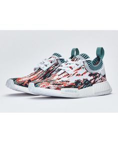 bdef10b10d0a8 Adidas Nmd R1 Primeknit Ftw White Clear Aqua Lab Green trainers for cheap Adidas  Nmd Primeknit