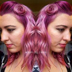 #vintage #pinkup #makeup #vintagehair #vintagestyle #retro #pinkhair #mermaidhair #pinkombre #pinkhairdontcare haircolor #hairstyle #hair #hairstylist #fashion #trend #glambyleann #mechanicsburg #harrisburg #hbg #cherishburg #hershey #modernsalon #americansalon #behindthechair @modernsalon @behindthechair_stylist @behindthechair_com @stylistshopconnect @theunicorntribe #newyearunicorns
