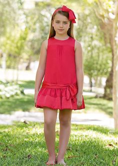 Adorable Sleeveless Organza Dress w/ Daisy Eyelet Design Girl Dress - Her Crochet Girls Dresses Sewing, Dresses Kids Girl, Kids Outfits, Dress Sewing, Preteen Girls Fashion, Toddler Fashion, Kids Fashion, Cute Little Girl Dresses, Cute Dresses