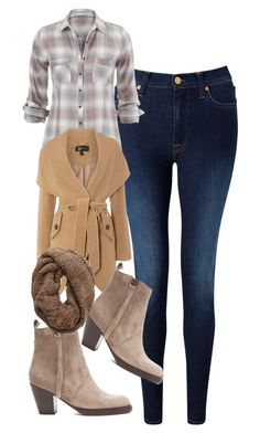"""Elena Gilbert Inspired Winter Outfit"" by mytvdstyle ❤ liked on Polyvore featuring 7 For All Mankind, Lipsy, Acne Studios, Aerie, Winter, Inspired, tvd and thevampirediaries"
