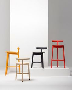 Radice stools by Industrial Facility for Mattiazzi @ Salone del Mobile
