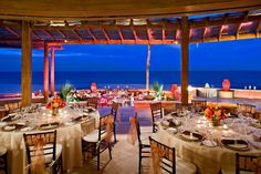 An evening reception at the Sheraton Hacienda del Mar Golf and Spa resort in Los Cabos #SPGDreamWedding #SPGWeddings