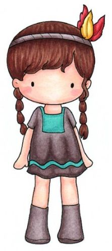 Designs - Cling Mounted Rubber Stamp - Sugarplums Indian Emma-Stamp is attached to ez-mount foam ready to be cut out and used with acrylic blocks Easy Drawings For Kids, Cool Art Drawings, Drawing For Kids, Art For Kids, Cute Little Girls, Cute Kids, Whimsy Stamps, Baby Drawing, Copics