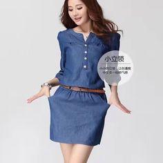 Vestido Chambray, Farmer, Casual, Dresses For Work, Shirt Dress, Closet, Shirts, Beauty, Decor