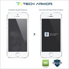 Tech Armor Apple iPhone 5/5c/5s High Defintion (HD) Clear Screen Protectors -- Maximum Clarity and Touchscreen Accuracy [3Pack] Lifetime Warranty - http://mobileappshandy.com/mobile-store/mobile-accessories/tech-armor-apple-iphone-55c5s-high-defintion-hd-clear-screen-protectors-maximum-clarity-and-touchscreen-accuracy-3pack-lifetime-warranty/