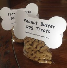 Check out my how to at my blog With Flourish at www.withflourish.com to make and package your own peanut butter dog treats