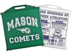 Stay comfortable this season! Customize your own Vinyl Stadium Cushion; great for fundraisers too! #schoolspirit #stadiumseat #stadiumcushion