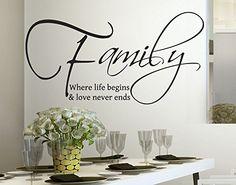 Wall Stickers Adesivo Murale Frase Citazione Famiglia Amore e Vita Adesivi Murali Decorazione interni Frasi Citazione Family Love in lingua INGLESE Misura 100 x 48 CM StickerDesign http://www.amazon.it/dp/B00LFSHEYQ/ref=cm_sw_r_pi_dp_Sthpwb0MCJVB5
