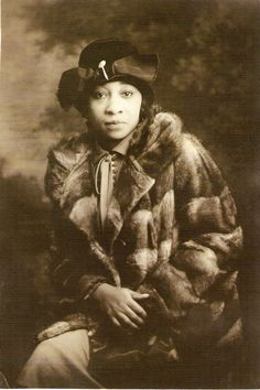 Nora Douglas Holt (1885-1974) - American musician and singer who composed over 200 pieces. In 1918 she was the first African American woman to earn her master's degree from Chicago Musical College. During the roaring 1920s, Nora Holt was a wealthy socialite and party girl, Holt was a major player during the Harlem Renaissance. The photo is by an unidentified photographer c1930.