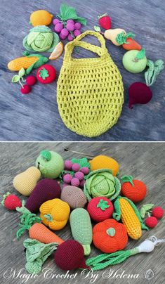 Crochet Fruit and Vegetable Patterns - WHOot Best Crochet and Knitting Patterns -. Crochet Fruit and Vegetable Patterns - WHOot Best Crochet and Knitting Patterns - Recipes Always wanted to figure out ho. Crochet Diy, Crochet Fruit, Crochet Baby Toys, Crochet Food, Crochet Toys Patterns, Crochet Gifts, Crochet For Kids, Amigurumi Patterns, Stuffed Toys Patterns