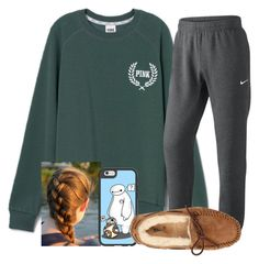 """""""I feel like crap"""" by jmsmith462 ❤ liked on Polyvore featuring Victoria's Secret PINK, NIKE, Casetify and UGG Australia"""