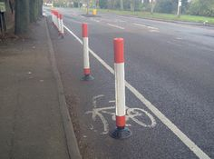"The highway department people must have said, ""Here's your stupid safety bollards. Happy now?"""