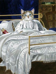 """by Susan Herbert inspired by """"Waking (John Everett Millais)"""""""