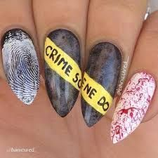 There are three kinds of fake nails which all come from the family of plastics. Acrylic nails are a liquid and powder mix. They are mixed in front of you and then they are brushed onto your nails and shaped. These nails are air dried. Nail Art Halloween, Halloween Nail Designs, Halloween Halloween, Halloween Makeup, Holiday Nail Designs, Halloween Movies, Halloween Decorations, Halloween Costumes, Diy Nails