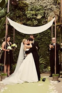 """DIY Chuppah It symbolizes the home you will build"": http://prettyluckyevents.tumblr.com/post/10758620624/diy-chuppah-it-symbolizes-the-home-you-will-build"