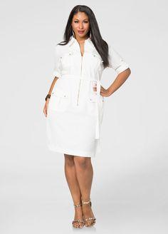 Cargo Zip Front Dress Cargo Zip Front Dress #thewhiteparty