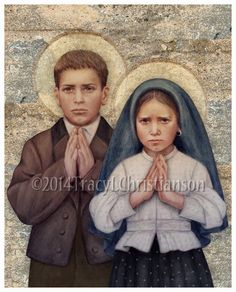 Francisco Marto (June 11, 1908 – April 4, 1919), his sister Jacinta Marto (March 11, 1910 – February 20, 1920) and their cousin Lucia Santos( 1907–2005) Known as the children of Fatima witnessed three apparitions of an angel  in 1916 and several apparitions of theBlessed Virgin Mary in 1917. The siblings were victims of the great 1918 influenza epidemic that swept through Europe that year. These 2 little souls suffered much before they died and offered it all for the conversion of sinners.