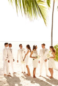 Lauren Ralph Lauren Wedding: Crisp whites and sandy hues are the perfect mix and match for your elegant beach wedding.