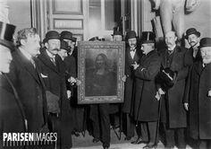 Affaire du vol de la Joconde. Le retour du tableau au musée du Louvre. Paris, 1914.