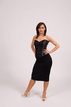 a3c04c76a1a841 Classic Tango Skirt Fish Tail black   black by TheGiftofDance