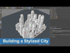 Building a Stylized City in Cinema 4D Tutorials - YouTube Cinema 4d Tutorial, 3d Tutorial, Learn Animation, Blender 3d, 3d Max, 3d Modeling, Willis Tower, Cgi, Motion Graphics