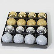 Lot de 16 boules plastique ROSE POUDRE - Boules en plastique : Izaneo.com
