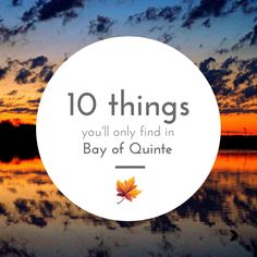 10 Things You'll Only Find in Bay of Quinte | Bay of Quinte Living