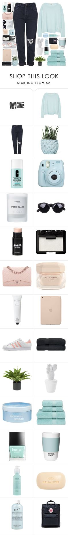 """""""☼; the salt on your skin."""" by c-astaway ❤ liked on Polyvore featuring J Brand, Topshop, Chen Chen & Kai Williams, Clinique, Byredo, NARS Cosmetics, Chanel, Elie Saab, Rodin Olio Lusso and Black Apple"""