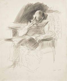 "thunderstruck9: "" David Hockney (British, b. 1937), Henry in Candle Light, 1975. Pencil on paper, 43 x 35.5 cm. """