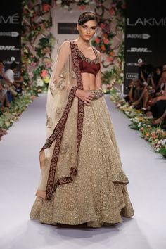 This gorgeous lengha from Shyamal  Bhumika is a bridal dream come true!