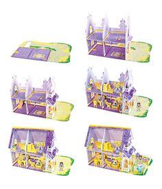 Pretty Purple Dollhouse 3D Puzzle