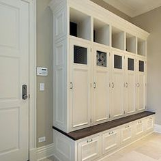 Laundry Room Wood Lockers With Doors I Would Love To Put A Few Of These