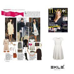 L'abito MELOGRANA di EKLE' ben si addice al guardaroba della famosa modella inglese Daisy Lowe. Su TU STYLE in edicola #ekle #ss2016 #LatestTrend