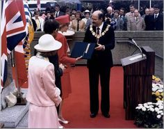 1986-05-07 Diana and Charles attend a Centenary Celebration at the City Hall in Vancouver, British Columbia