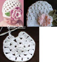 Croche pro Bebe: Toucas e chapéu em croche