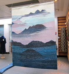 A World of Natural Dyes: The ISEND Experience. Tapestry woven and naturally dyed by Wen Chi Wu (Taiwan) in the exhibition hall at ISEND. Weaving Textiles, Weaving Art, Weaving Patterns, Loom Weaving, Tapestry Weaving, Hand Weaving, Contemporary Tapestries, Weaving Wall Hanging, Native Beadwork