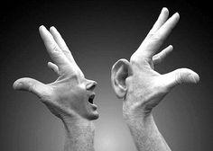 mãos que falam...