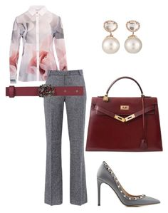 """Professional Woman"" by arta13 on Polyvore featuring Ted Baker, Barbara Bui, Gucci, Hermès, Samira 13 and Valentino"