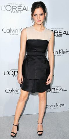 Emma Watson's 10 Best Red Carpet Looks Ever - Calvin Klein, 2012 from #InStyle