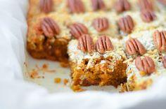 Butterscotch Pumpkin Cake Bars