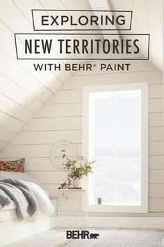Turn a forgotten area of your home into the most beloved room in the house with BEHR® Paint. This attic went from a dusty storage area to a cozy hideaway. Use soft, neutral tones like Light Drizzle, Dusty Lilac, or Painter's White to draw in natural light and make your small space feel bright and open. Click below to learn more.