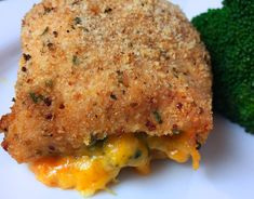 Stuffed Chicken Breast with Broccoli and Cheddar - RecipeTeacher