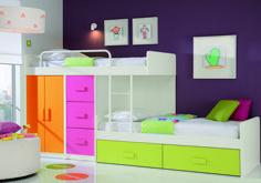 Awesome Kid Furniture Modern Colorful Kids Bedroom Loft Bed