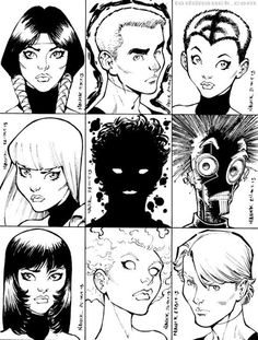 1980's X-Men/New Mutants: Mirage, Cannonball, Wolfsbane, Magik, Sunspot, Warlock, Karma, Magma, & Cypher by Todd Nauck